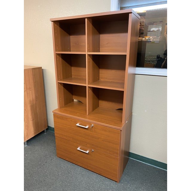 Design Plus Gallery presents a LP Danish Office Adjustable Bookshelf + Double Filing Cabinet. Smooth + warm engineered...