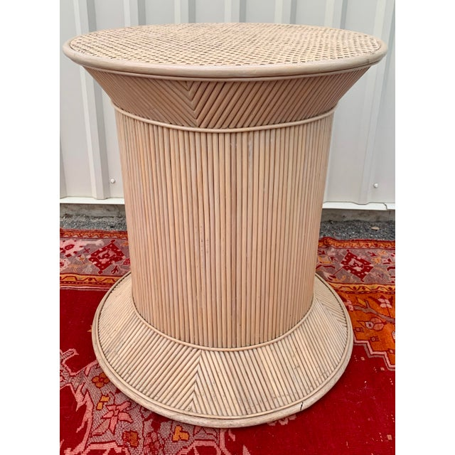 Split Reed Bamboo Rattan Dining Table Base in Crespi Style For Sale - Image 11 of 12
