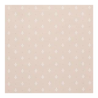 Sample - Schumacher Fleur De Lis Wallpaper in Blush For Sale
