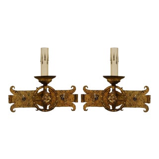Early 20th Century Iron Sconces from Barcelona - A Pair