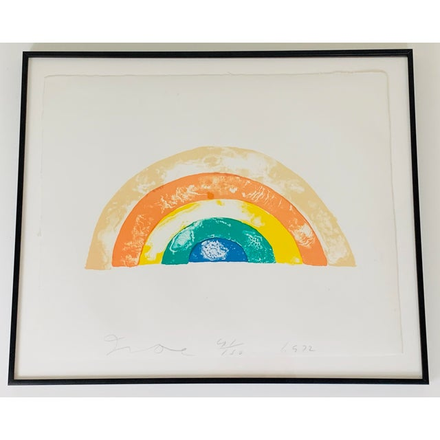 """""""Rainbow"""" Jim Dine Signed Limited Edition Lithograph, 1972 For Sale - Image 12 of 13"""