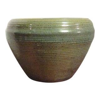 Vintage 1970s Traditional Large Ceramic Pottery Planter Pot For Sale