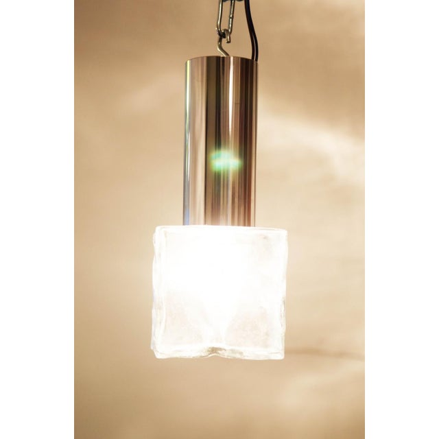 Vintage glass and steel wall lamp by JT Kalmar For Sale - Image 9 of 11