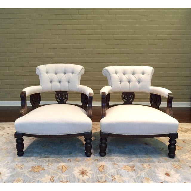 Antique Victorian Tub Chairs - Image 2 of 11