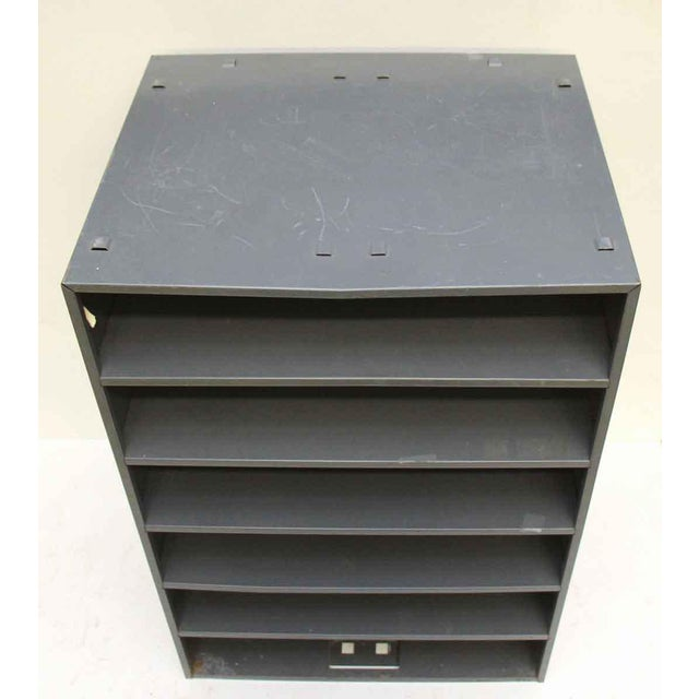 Industrial Six Shelf Metal Cabinet For Sale - Image 3 of 5