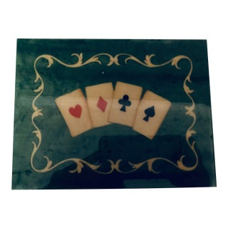 Notturno Intarsio Handmade Italian Wood and Lacquered Card Deck Box For Sale