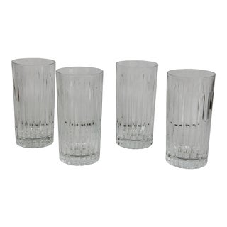 Cut Crystal Highball Glasses - Set of 4 For Sale