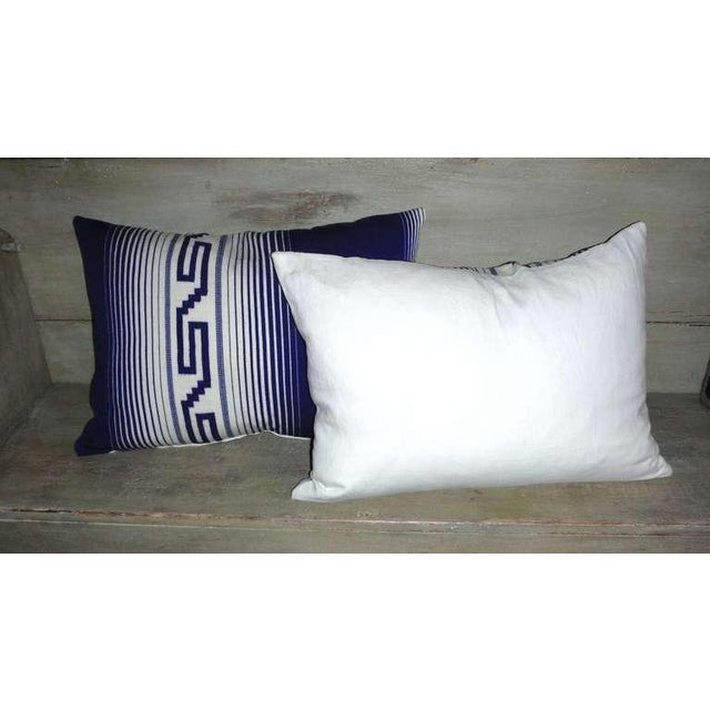 Pair of Mexican Indian Tex Coco Weaving Bolster Pillows For Sale - Image 4 of 4