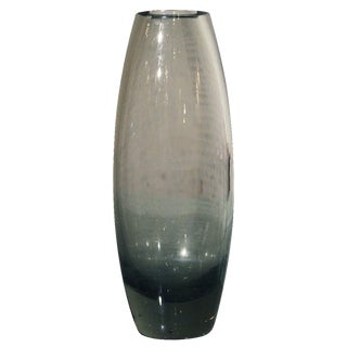 Holmegaard Per Lutken Smoke Gray Glass Hellas Vase