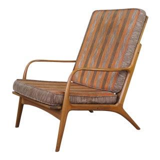 1960s Mid Century Modern Yugoslavian Walnut Club Chair For Sale