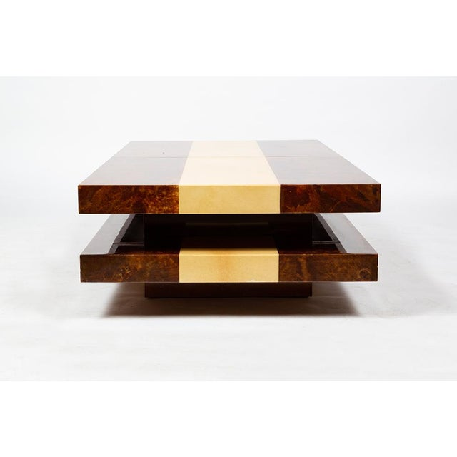 Wood Aldo Tura Bar Table For Sale - Image 7 of 12