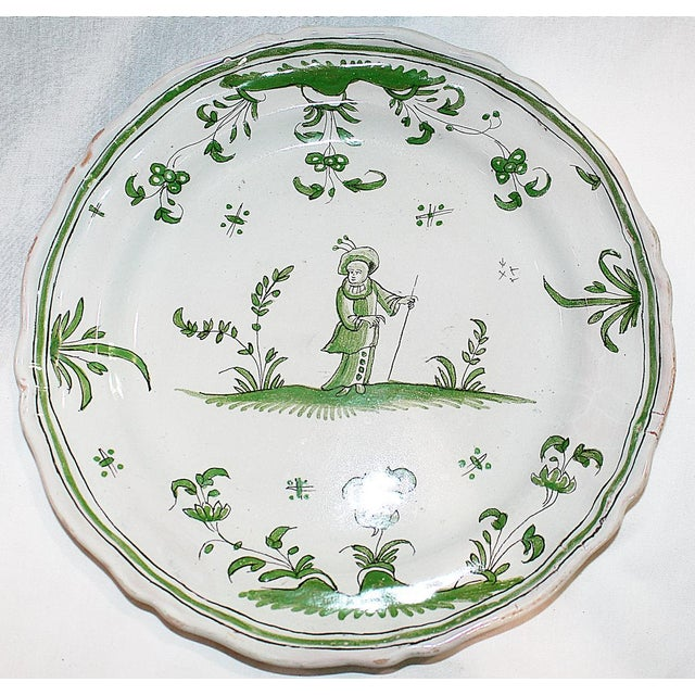 French Faience Quimper-Style Plate - Image 2 of 4