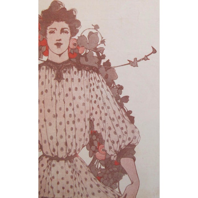 1903 American Art Nouveau Fashion Cover, The Youth's Companion For Sale - Image 4 of 5