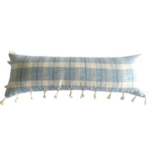Tasseled Plaid Pillow Cover For Sale