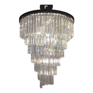 Restoration Hardware Helix Crystal Prism Chandelier For Sale