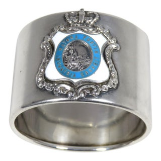 Antique Sterling Silver Quebec City Canada Napkin Ring For Sale