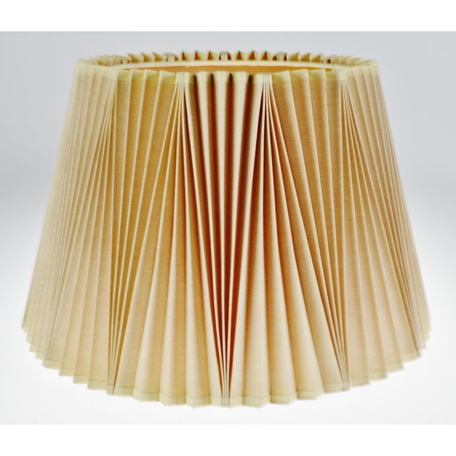 Vintage Large Stiffel Empire Style Pleated Fabric lampshade For Sale - Image 10 of 11