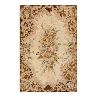 """Antique American Hooked Rug 6'0"""" X 9'0"""" For Sale"""