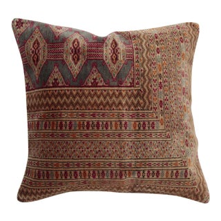 "Turkoman Turkish Carpet Pillow - 23"" x 23"" For Sale"