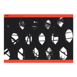 """Gunther Forg Alter Ego 13.75"""" X 19.5"""" Serigraph 1997 Photography Black & White, Red Windows, Plants, Lightwell, Geometry For Sale"""