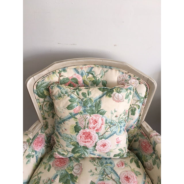 Shabby Chic Floral Bergere Chairs - A Pair - Image 10 of 11