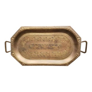 Early 20th Century Indo-Persian Mamluk Tray For Sale