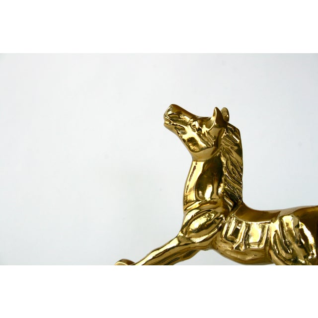 1960s Mid-Century Modern Brass Rocking Horse Figurine For Sale - Image 9 of 10