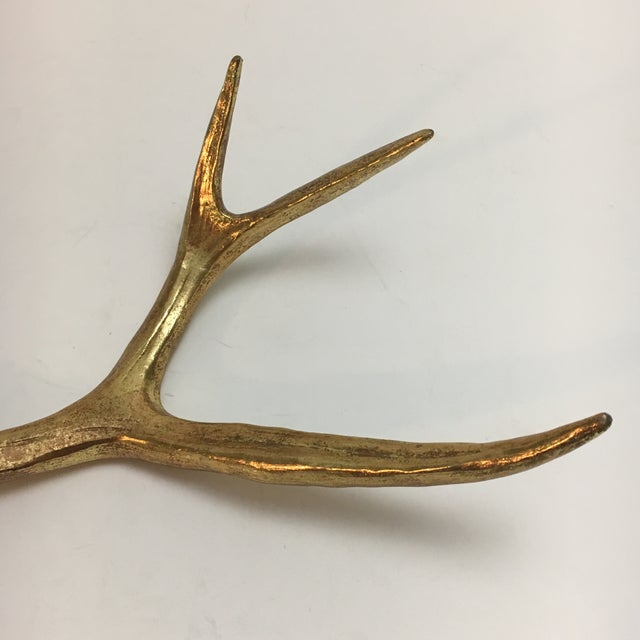 Painted Gold Sculptural Antler - Image 3 of 6