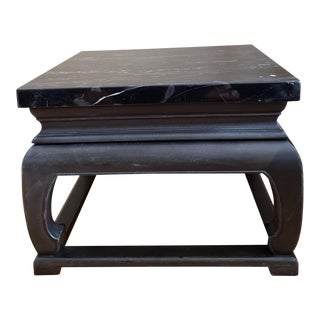 1950s Asian Baker Marble Coffee Table For Sale