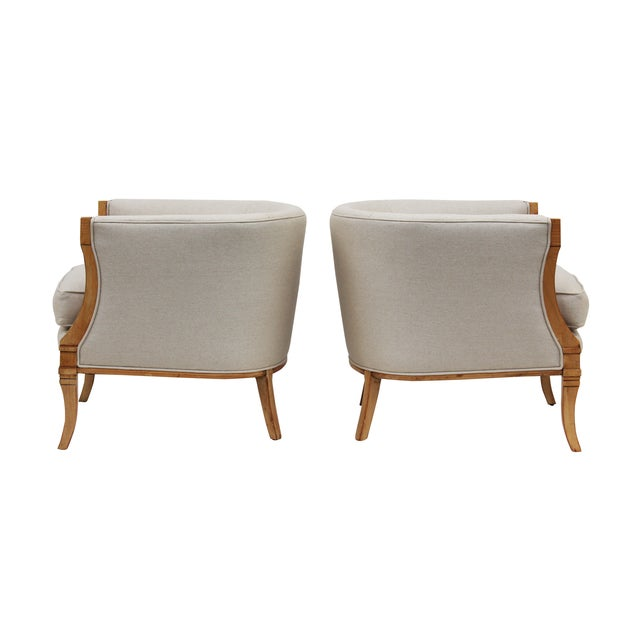 Hollywood Regency Barrel Back Chairs - A Pair - Image 3 of 10