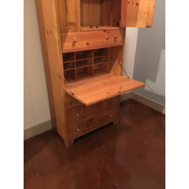 Wooden Cabinet With Hutch and Drawer - Image 4 of 6