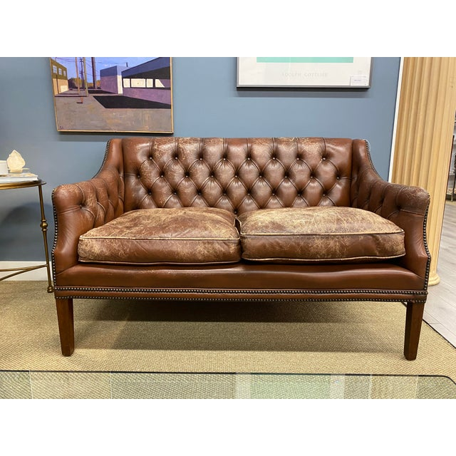 Vintage 1960s Leather Sofa For Sale - Image 11 of 11