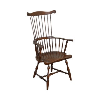 Harden Solid Cherry Comb Back Windsor Arm Chair