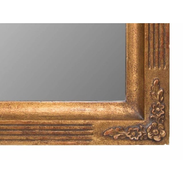 1980s 20th Century Italian Giltwood Mirror For Sale - Image 5 of 6