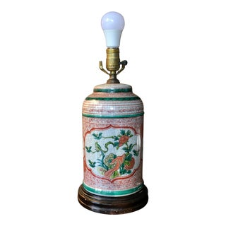 Late 20th Century Chinoiserie Porcelain Jar Table Lamp For Sale