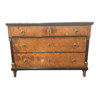 Antique Biedermeier Birchwood Chest