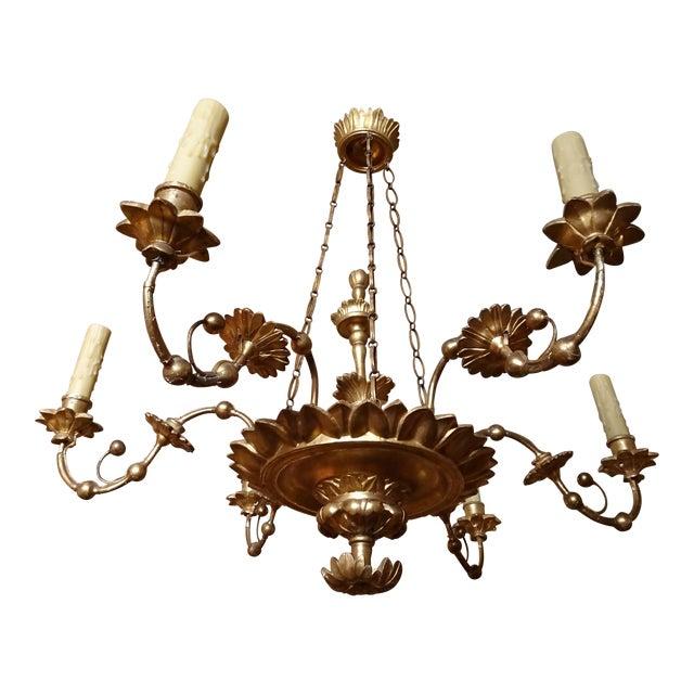 18th Century Italian Gilt Wood Chandelier For Sale
