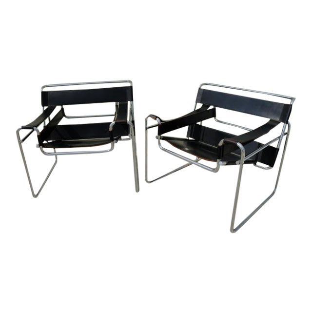 gavina italy original marcel breuer wassily chairs a pair chairish