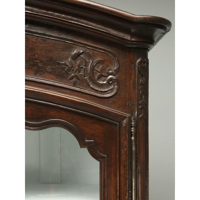 Brown Antique French Walnut Armoire or China Cabinet For Sale - Image 8 of 13