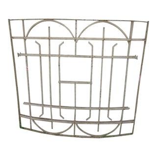 Antique Victorian Architectural Iron Gate For Sale