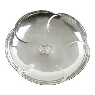 Christian Dior Silver Plate Ring Holder Display Bowl For Sale