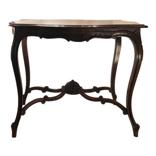 20th Century French Rococo Carved Center Table For Sale
