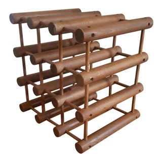 Richard Nissen for Langaa 9 Bottle Teak Wine Rack For Sale