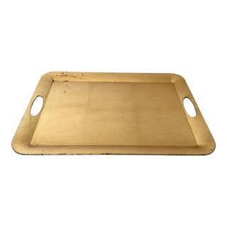 Modern Gold Serving Tray For Sale