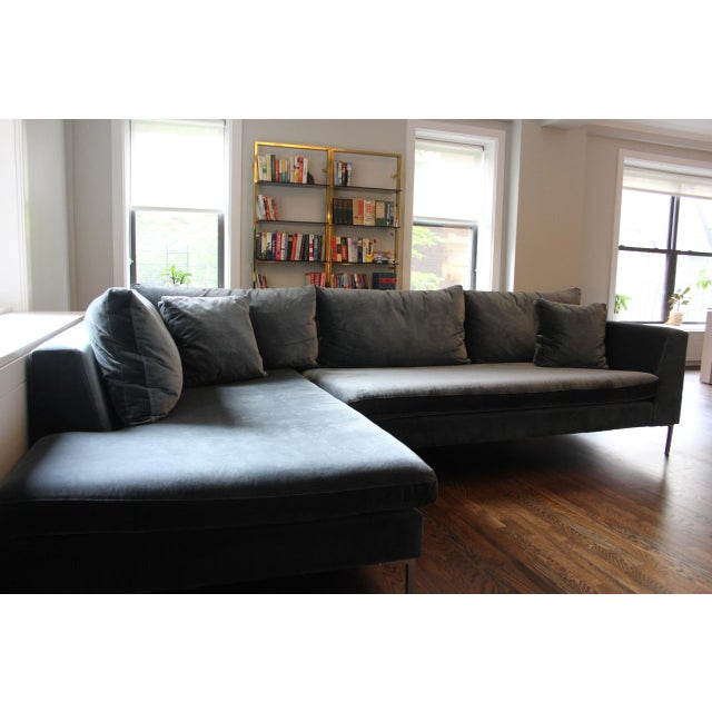 """This is a sectional sofa from ABC Carpet and Home. It's from the Cobble Hill Collection called the """"Carroll Gardens Velvet..."""