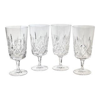 Gorham King Edward Crystal Hand Blown Ice Tea Glasses, Germany - Set of 4 For Sale