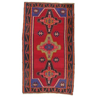 "Pasargad Ny Russian Kazak Lambswool Rug - 5'8"" X 10' For Sale"