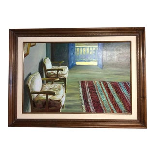 """1980s """"New Hampshire"""" Xue Jian Xin Oil Painting For Sale"""