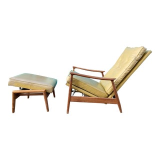 Milo Baughman Reclining Chair & Ottoman For Sale