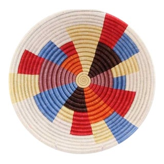 Colorful Woven African Basket For Sale